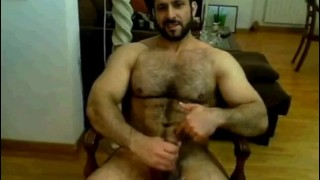 Bearded Hairy Muscle Bear  Jacks And Cums
