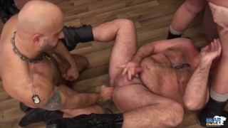 Military Muscle Bears Orgy