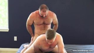 Hairy Muscle Daddy Bishop Fucks A Stocky College Jock